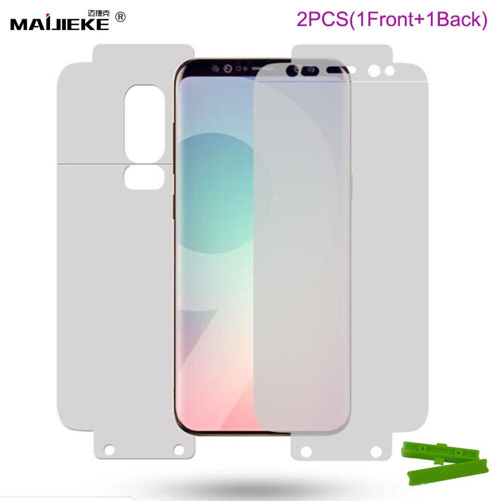 2PCS Front & Back Hydrogel Film For Samsung Galaxy Note 10 Plus S10 Plus S10E S8 S9 Plus Note 9 8 A8 A7 2018 Screen Protector