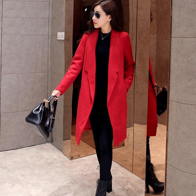 Red Long Coat Womens