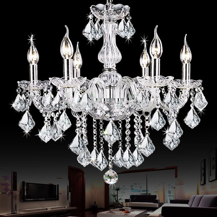 6 candle chandelier crystal chandelier bedroom, living room with dining room chandelier modern Jane shipping a European art