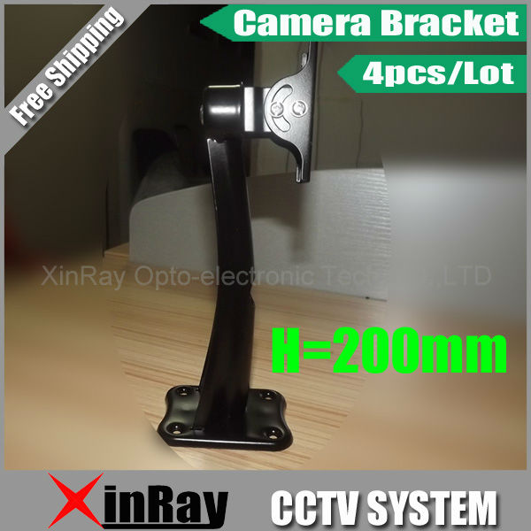 Free Shipping 4pcs 200mm Height High Strength Wall Mount Stand Bracket For Security Camera, CCTV Accessories Wholesale AB2 free shipping universal metal white wall mount stand bracket for cctv security camera