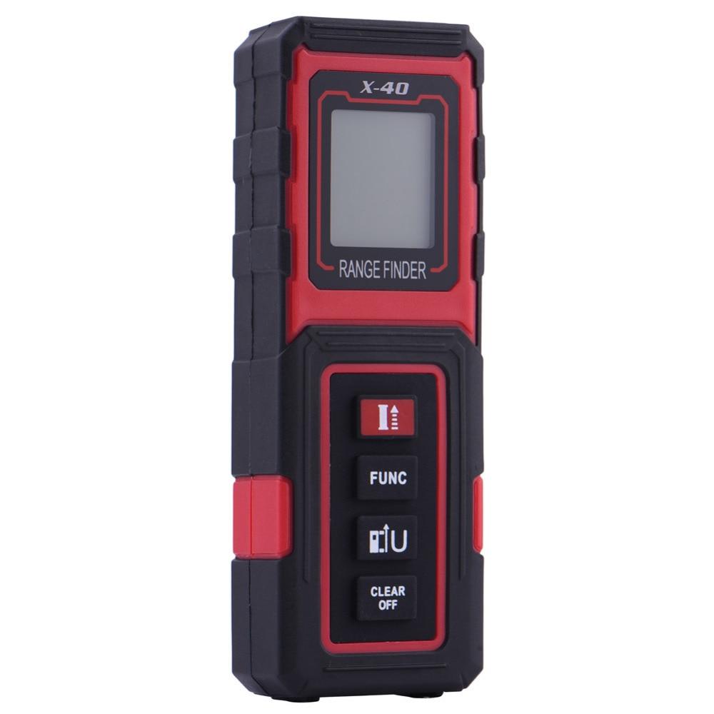 40M Handheld Rangefinder Laser Distance Meter Digital Laser Range Finder Laser X-40 Tape Measure Tester