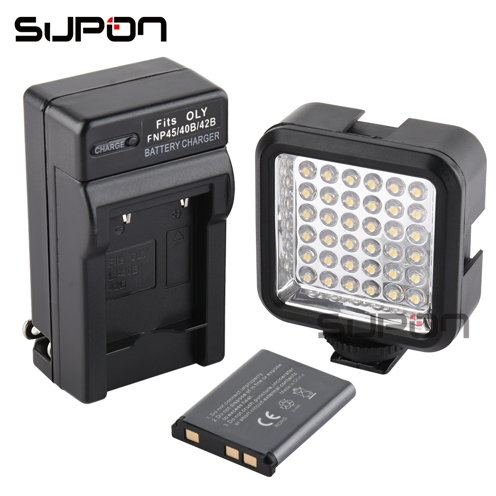 Supon Mini LED Light Flash Speedlite with Li ion battery and charger 5500 6500K photography lighting