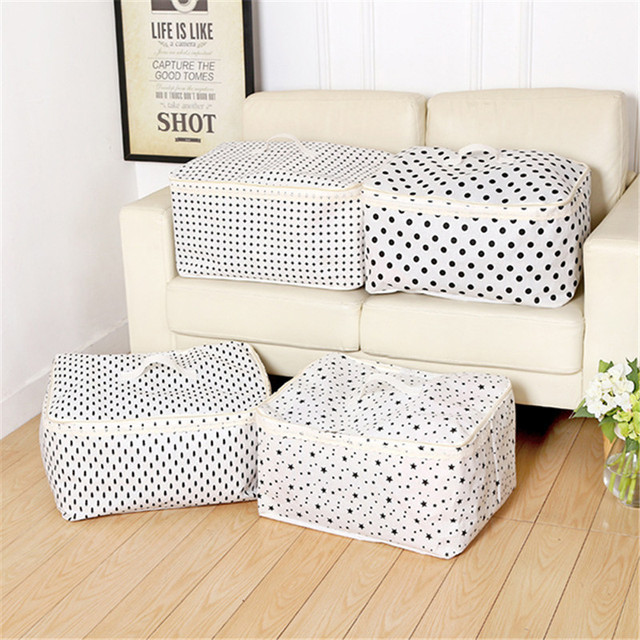 Zippered Cotton Linen Quilt Storage Bag Waterproof Clothes Coat ... : quilt storage bags - Adamdwight.com