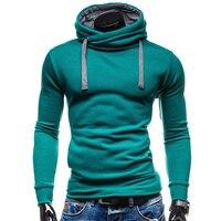 2017 Hoodies Men Sudaderas Hombre Hip Hop Mens Brand Solid Color Turtleneck Pullover Hoodie Sweatshirt Suit