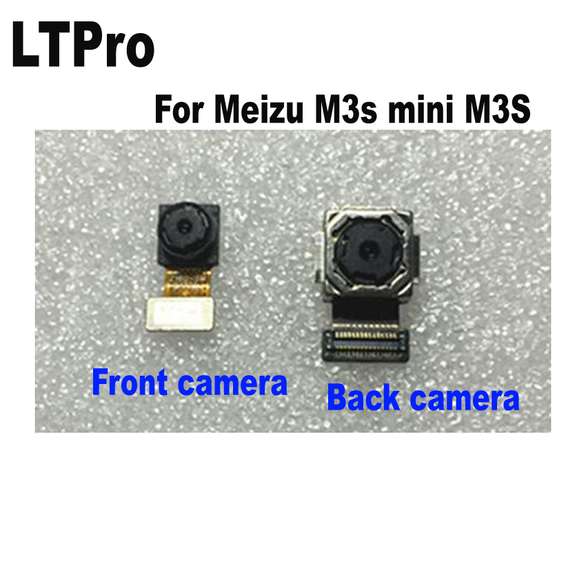 LTPro TOP Quality Good for <font><b>Meizu</b></font> <font><b>M3s</b></font> Meilan 3S Front or Rear Back Big <font><b>Camera</b></font> Module with Flex Cable Spare Parts Replacement image