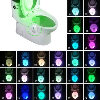 Bad Wc Nachtlicht LED Körper Bewegung Aktiviert Auf/Off Sitz Sensor Lampe 8/24 Farben PIR Wc Nacht licht lampe