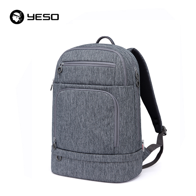 e400e1aef92 YESO New Multifuctional Gray Backpack Men 2018 Fashion Casual Backpacks For  Women Oxford Waterproof Large Capacity