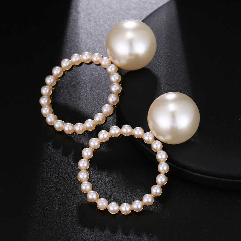 Trendy Hot new style Popular Lady Jewelry Wholesale Girl Birthday Party Pearl Suit Package Round Earrings Free Shipping