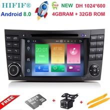Android 8.0 два DIN 7 дюймов dvd-плеер автомобиля для E-Class/W211/Mercedes Benz/ CL Octa ядер 2 г Оперативная память 32 г Встроенная память 3G/4 г WI-FI Радио GPS
