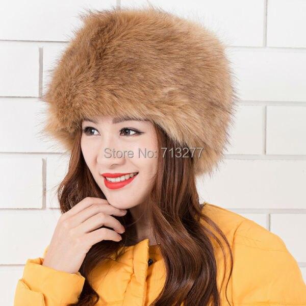 Warm Winter Hat 2017 Imitation Fur Hat Fashion Faux Fur Cossak - Հագուստի պարագաներ - Լուսանկար 4