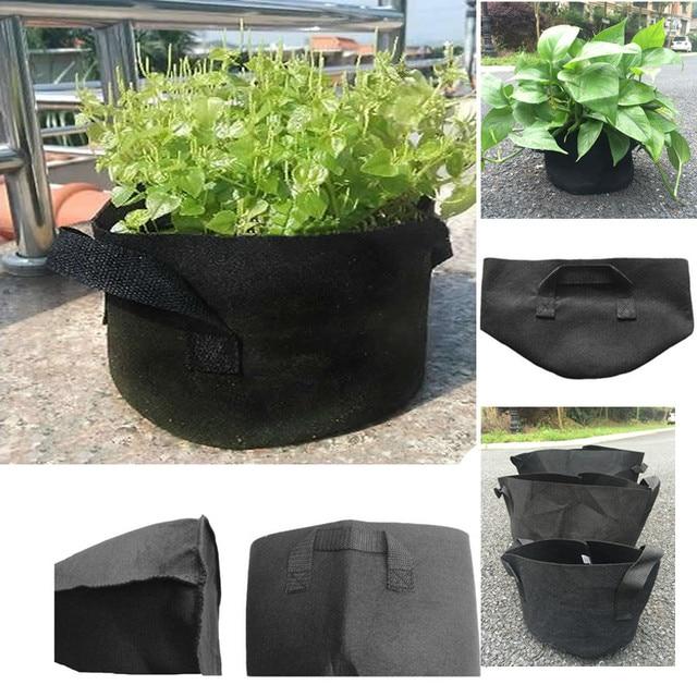 Potten Voor Planten.10 Stuks Zwarte Stof Potten Planten Plantaardige Zakje Recipienten