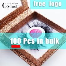 Colash Square False Eyelash Packaging Box Custom lash box Fake 3d Mink eyelashes Boxes Faux Cils lash strip Case with lashes