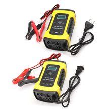 12V 6A LCD tamir pil şarj cihazı kurşun asit güç depolama şarj araba motosiklet için