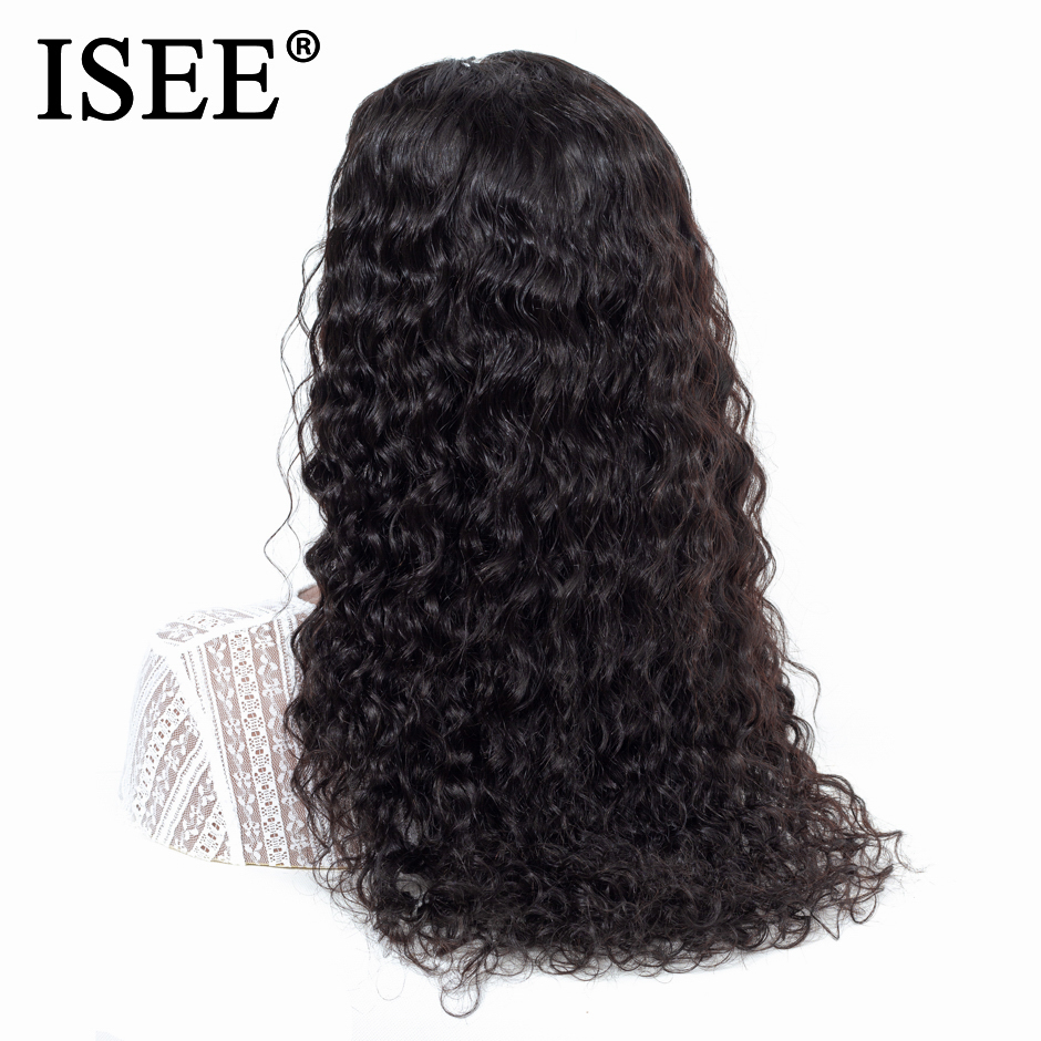 Water Wave Human Hair Wigs 13X4/13X6 ISEE HAIR Lace Front Wigs 130%/180%/150% Density Remy Malaysian Lace Front Human Hair Wigs