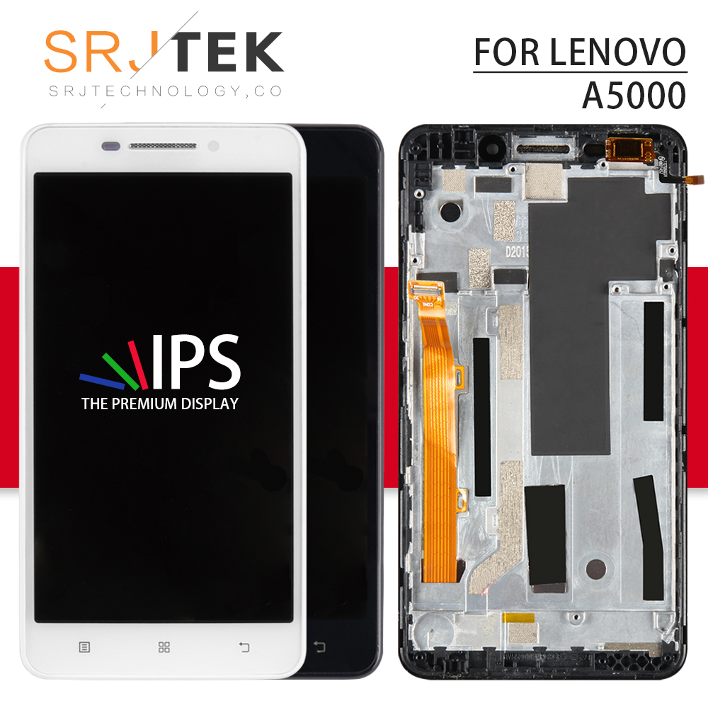 Srjtek Für <font><b>LENOVO</b></font> <font><b>A5000</b></font> Display 5 ''Für <font><b>LENOVO</b></font> <font><b>A5000</b></font> LCD Display mit Touch Screen Digitizer Montage 1280x720 replacment Teile image