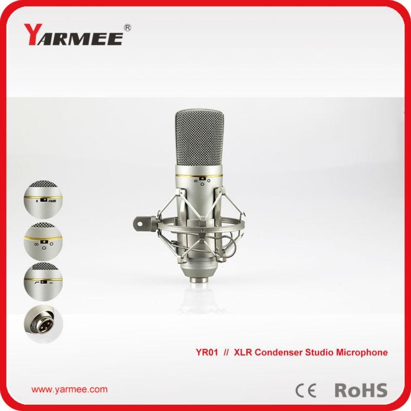цены Muliti functional XLR wired condenser recording microphone Karaoke microphone studio microphone
