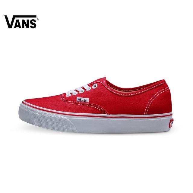 Et Dans D'origine Rouge Chaussures Vans Sneakers Toile De Sports Amant Roulettes À Planche Skate Authentique Couleur qZvwUq