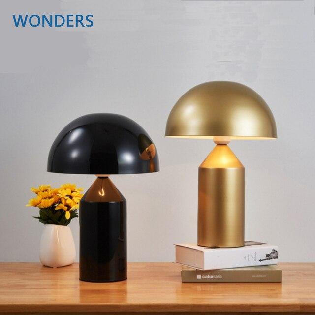 Italien Compasso Du0027oro Oluce Atollo Tischlampe Moderne Pilz Lampe Einfache  Design Schreibtisch Lichter Nachttischlampe