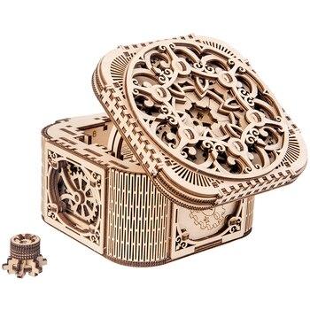 2019 جديد صندوق مجوهرات خشبي تجميعها الإبداعية لعبة هدية لغز خشبي الميكانيكية انتقال نموذج تجميعها لعبة DIY بها بنفسك هدية