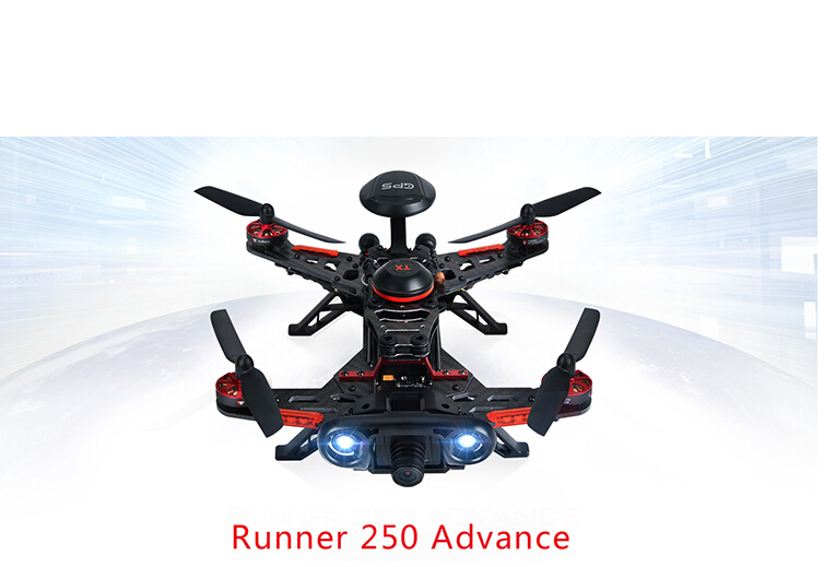 Original Walkera Runner 250 Advance GPS System RC Drone Quadcopter RTF with DEVO 7 Remote Control / OSD / Camera / GPS V4 F16182 original walkera devo f12e fpv 12ch rc transimitter 5 8g 32ch telemetry with lcd screen for walkera tali h500 muticopter drone
