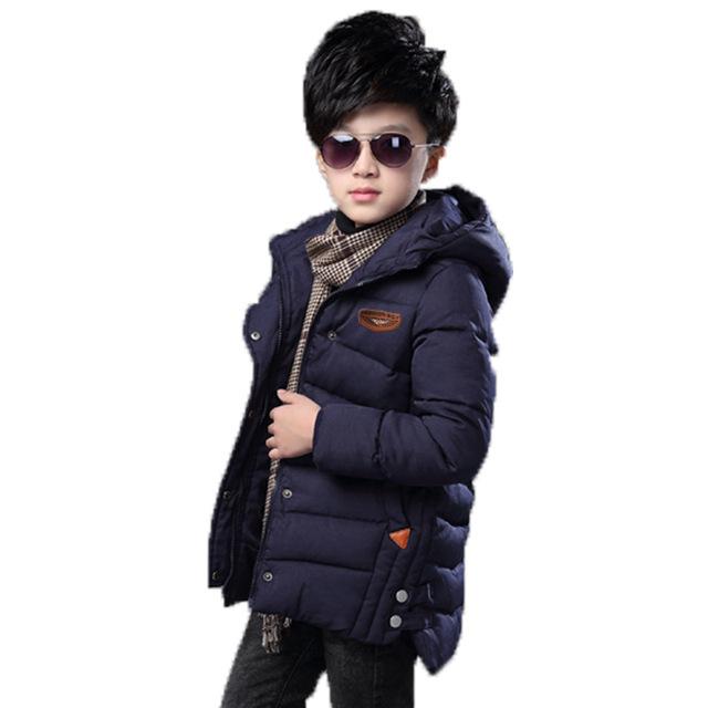 Meninos roupas 2017 Crianças casaco de inverno Criança Amassado Jaqueta de Algodão-acolchoado Quente Crianças Espessamento pato Para Baixo jaqueta de algodão casaco