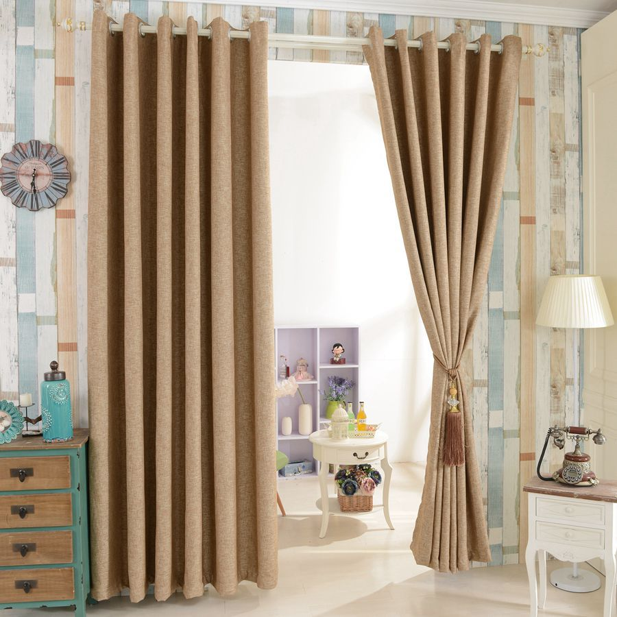 House design beautiful full blind window drapes blackout ... on Living Room Drapes Ideas  id=40100