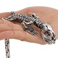 European and American personality alternative domineering titanium steel animal dinosaur bracelet stainless steel jewelry