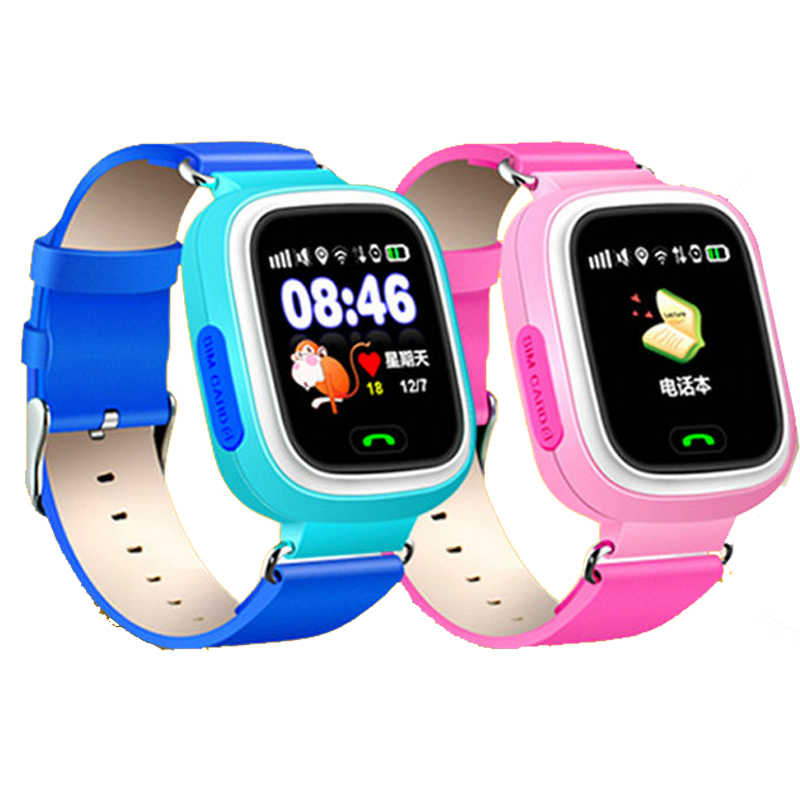 GPS Q90 Smartwatch Touch Screen WIFI Positioning Children Smart Wrist Watch Locator Anti-lost Watches SOS Call Location Tracker