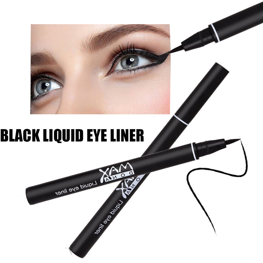 YANQINA Fashion Pure Black Eyeliner Pen Waterproof Long Lasting Eye Liner Eye Makeup 1PC