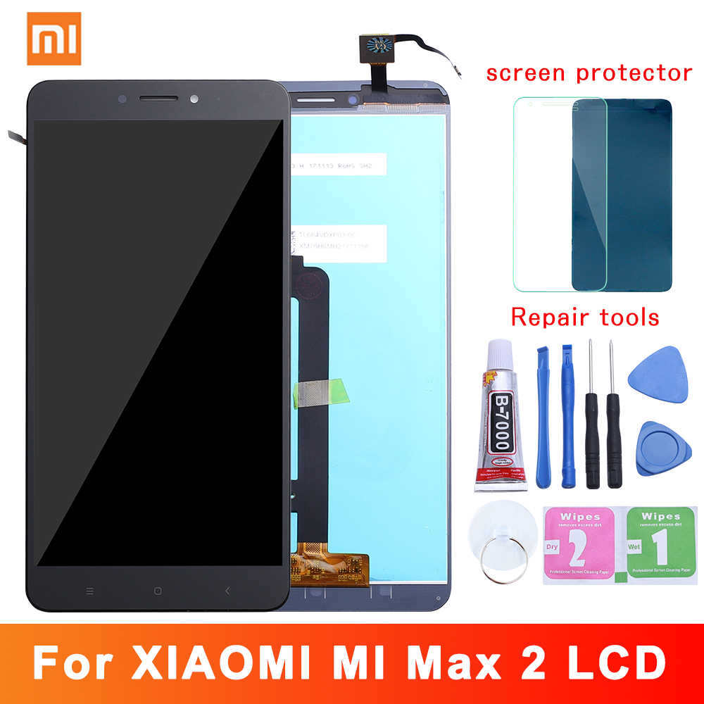 "6.44"" Original Display For XIAOMI Mi Max 2 LCD Touch Screen with Frame Replacement Screen for Xiaomi Mi Max 2 Display Max2 LCD"