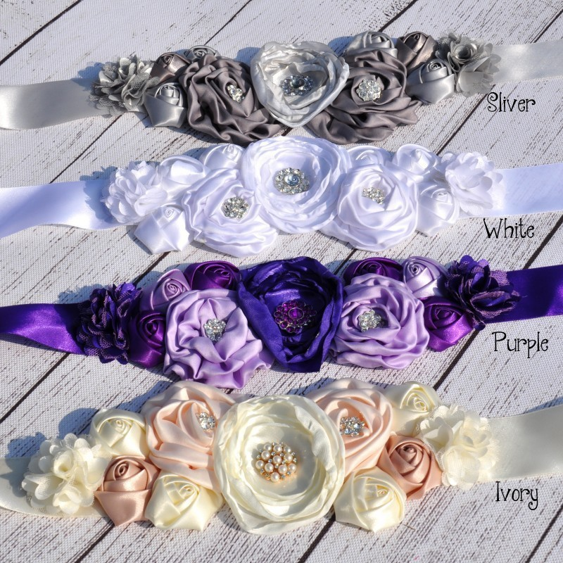 Kids girls flower Cummerbunds for wedding kids sashes fashion women floral handmade belt adjustable clothes accessories
