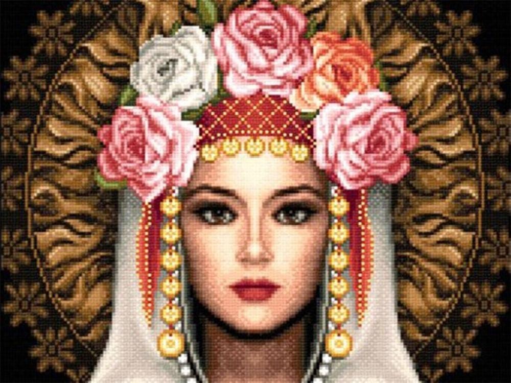 Nowy haft diament diament mozaika malowanie czerwony Parasol kwiat Dziewczyna ikona diy 5d diament malarstwo cross stitch robótki