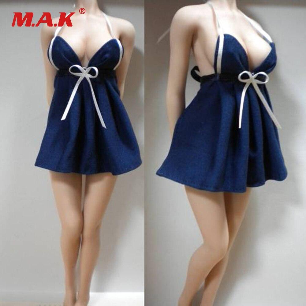 1 6 Scale Female White Lace Long Dress Perspective Underwear For 12 Putih Renda A30554 Do Sexo Feminino Sexy Biquni Saia Roupa Interior Espartilho Pijamas Traje Menina Action
