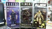 3pcs Classic Sci Fi Movie Aliens NECA Alien Series 3 Bishop + Kane Nostromo Suit + Dog Alien Action Figure Toys New Box