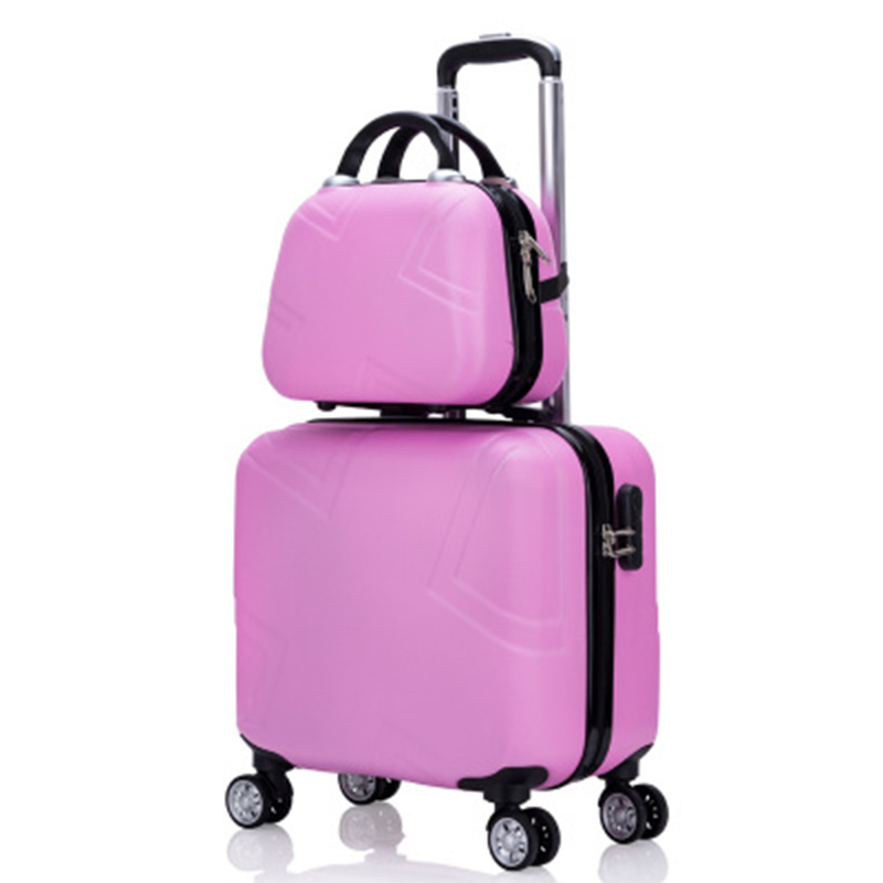 Travel suitcase set Rolling Luggage set Spinner trolley case 18 boarding wheel Woman Cosmetic case carry-on luggage travel bagsTravel suitcase set Rolling Luggage set Spinner trolley case 18 boarding wheel Woman Cosmetic case carry-on luggage travel bags