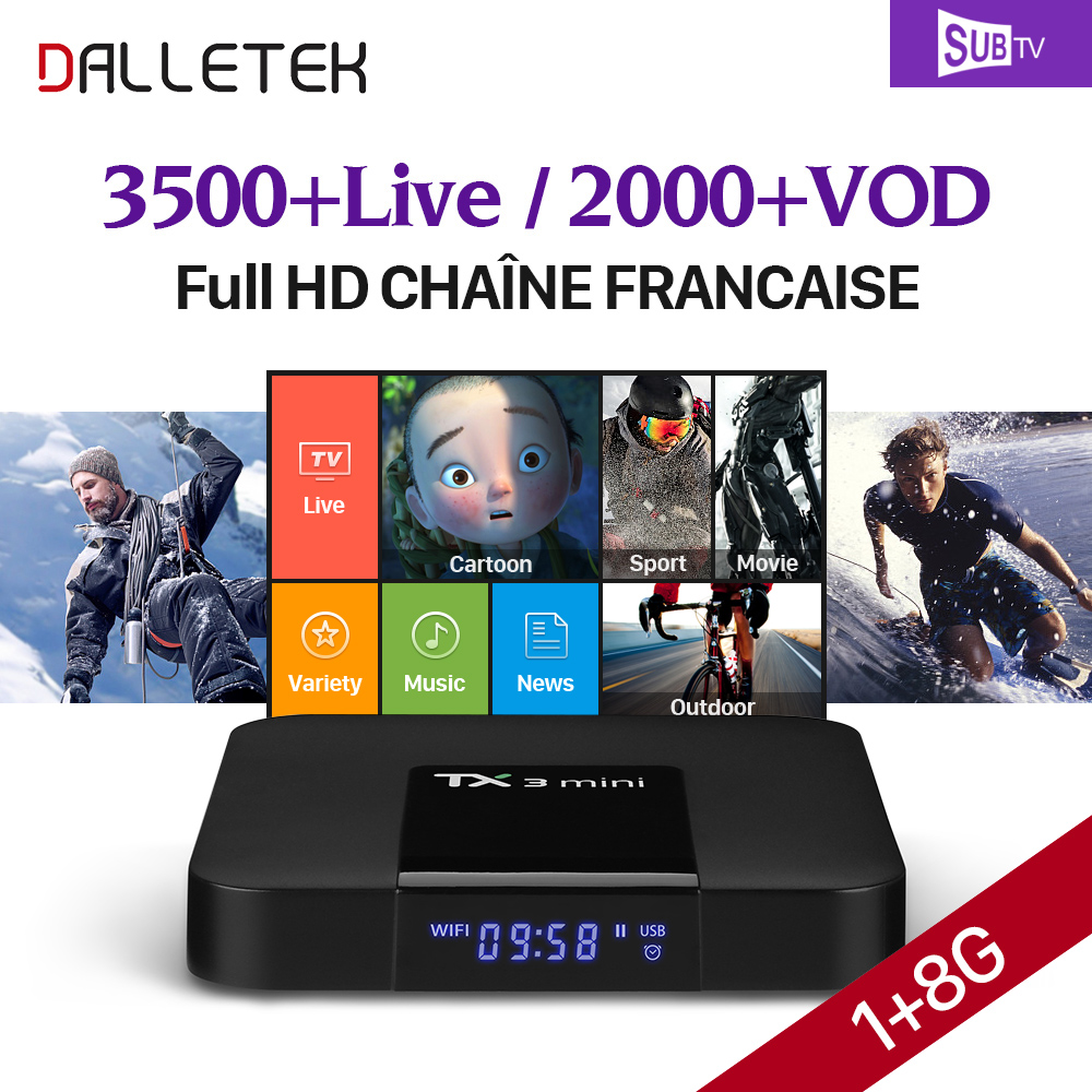 TX3 mini Smart TV BOX Android 7.1 S905W Media Player + 3\6\12 Months 3500+ SUBTV Code IPTV Arabic French Turkish Albania IPTV full hd french iptv arabic brazil iptv box android 6 0 smart tv box subtv code subscription 3500 turkish albania ex yu iptv box