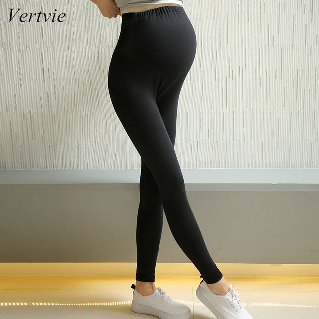 f8366d841a898 Vertvie Fitness Plus Size Women Yoga Pants Autumn Solid Modal Elastic  Pregnant Women Pants Maternity Legging Pregnancy Pant 2XL