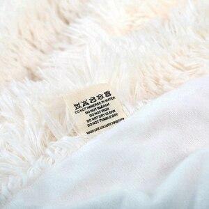 Image 4 - Супер мягкое ворсовое меховое одеяло, плюшевое декоративное одеяло 130*160 см/160*200 см, зимнее одеяло для кровати, дивана, одеяло