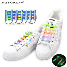 12Pcs/Set Fashion Unisex Women Men Athletic Running Needn't to Tie Lazy Shoelaces Elastic Silicone Shoe Lace All Sneakers Strap(China)