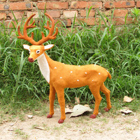 simulation deer model,plastic& fur handicraft,50x40 cm sika deer, home decoration toy Xmas gift w5852