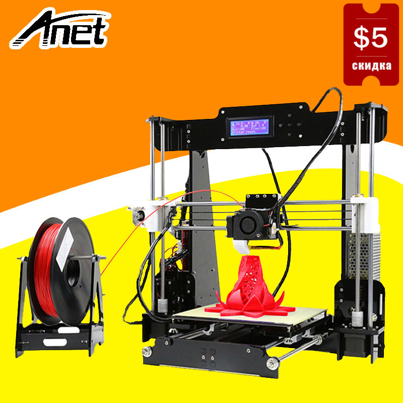 купить Anet A8 3D Printer DIY Kit High Precision Prusa i3 RepRap Quality Aluminum Hotbed LCD Screen Original Nozzle Ship From Moscow недорого