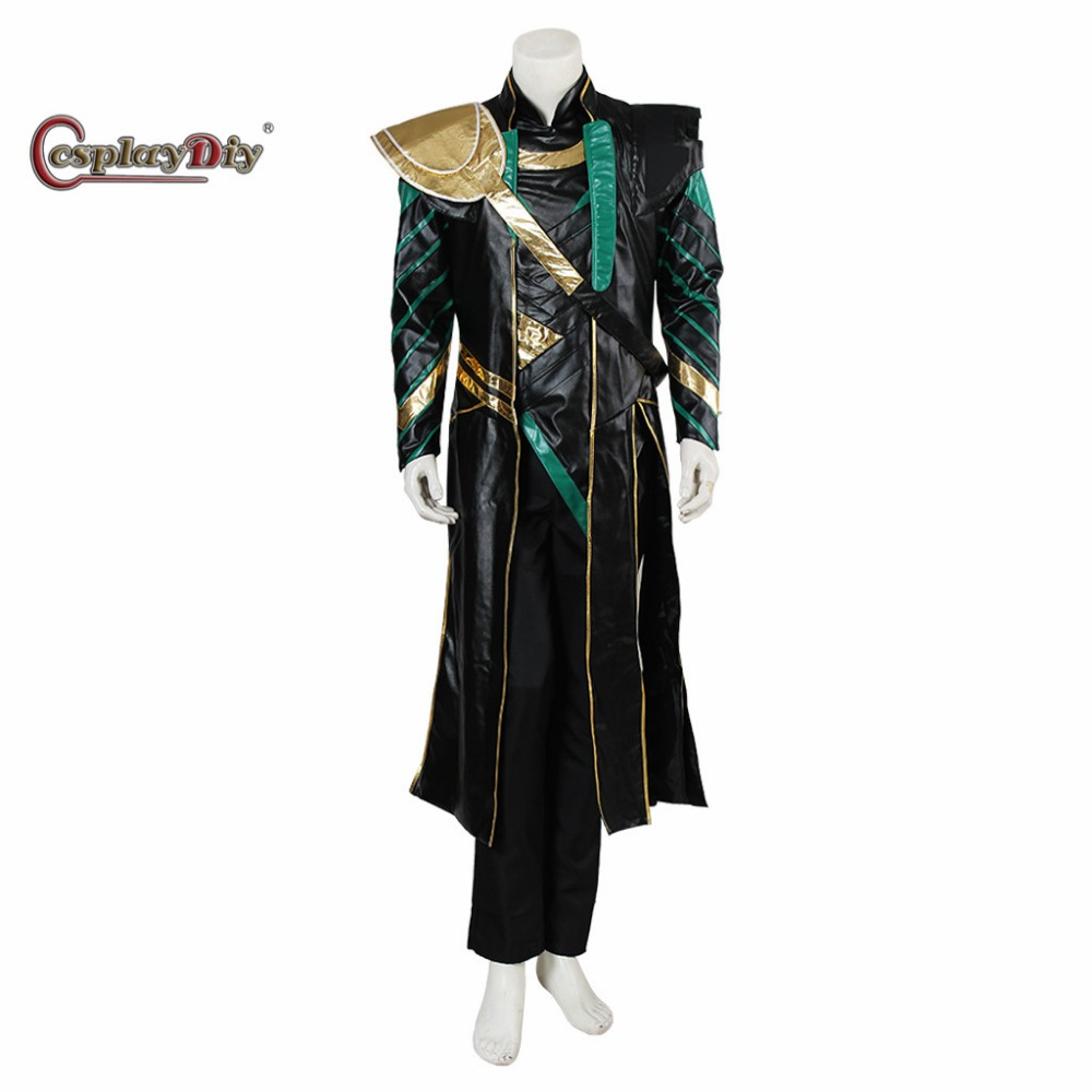 Cosplaydiy The Avengers Movie Thor Character Loki Cosplay Costume For Carnival Halloween Party Custom Made D0405