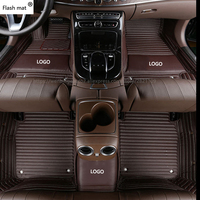 Flash mat Logo car floor mats for Jeep Grand Cherokee Wrangler Patriot Cherokee Compass commander car accessories Custom mat