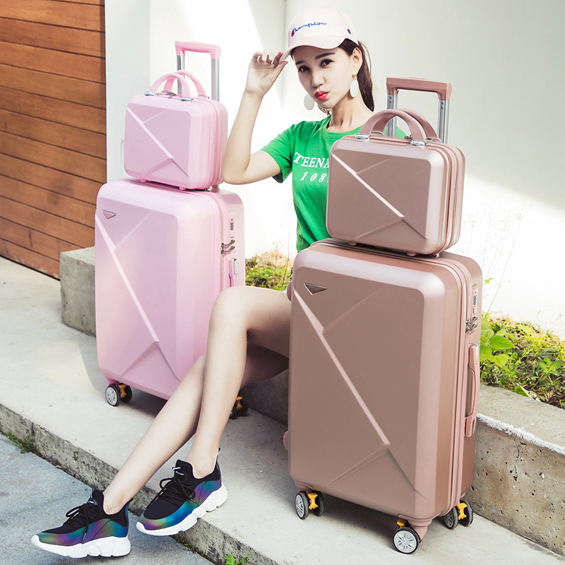 Wholesale!14 20inch lovely candy color trolley luggage set for girl,pink/purple/green/golden abs hardside travel luggage cheapWholesale!14 20inch lovely candy color trolley luggage set for girl,pink/purple/green/golden abs hardside travel luggage cheap