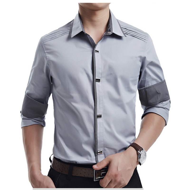 New Spring Autumn Cotton Dress Shirts High Quality Mens Casual Shirt,casual Men Plus Sizexxxl Slim Fit Social Shirts #4