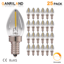 C7 0,5 W дымчатое стекло свет E14 светодиодный нити подсвечники Ночная лампочка естественного света 4000 K 5 ватт эквивалент дроссельные светодиодные лампы