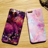 New Wholesale Glossy Purple Marble Case Cotton Candy Marble Phone Case For Iphone 6 6s 6Plus