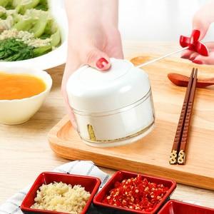 Новая креативная мини-кухонная утварь, детская вспомогательная пищевая машина, функция овощерезки, ручная вытягивающая чесноковая грязевая посуда