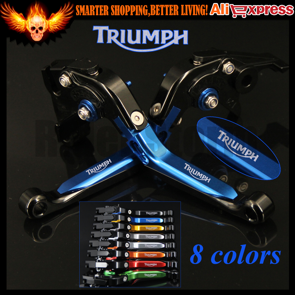 8 Colors CNC Adjustable Folding Extendable Motorcycle Brake Clutch Levers For Triumph TIGER 800/XC 2011 2012 2013 2014 motorcycle new adjustable cnc billet short folding brake clutch levers for triumph tiger explorer 1200 2012 2015 2013 2014 12 15