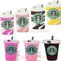 Горячая 3D Мороженое Starbuck Чашка Кофе Case Для iPhone 4 4S 5 5S SE 6 6 S 7 плюс Galaxy S3 S4 S5 S6 S7 edge Note 3 4 5 A5 7 8 J5 J7